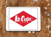 Lee Cooper clothing company logo. Logo of Lee Cooper brand on samsung tablet. Lee Cooper Brand is an English clothing company, operating worldwide, that licenses stock photo