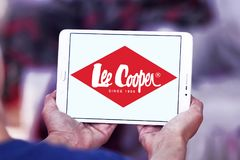 Lee Cooper clothing company logo. Logo of Lee Cooper brand on samsung tablet. Lee Cooper Brand is an English clothing company, operating worldwide, that licenses stock photography