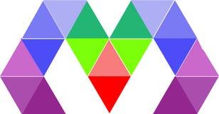 Logo Letter astratto m., vettore Logo Design fotografie stock