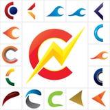 Logo Letter C Company Schablonen-Satz Lizenzfreie Stockbilder