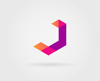 Logo Letter Icon Design Template-Elementen in Vector Royalty-vrije Stock Foto's