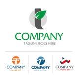 Logo letter T set Stock Image