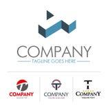 Logo letter T set Stock Photos
