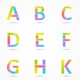 Logo letters a, b, c, d, e, f, g, h, k template. Stock Images