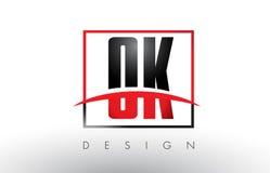 Logo Letters BIEN BIEN avec des couleurs et le bruissement rouges et noirs Image libre de droits