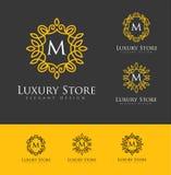 Logo Letters di lusso Immagini Stock Libere da Diritti