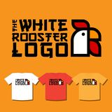 T-shirt print with Rooster emblem. The symbol of the Chinese New Year. royalty free illustration