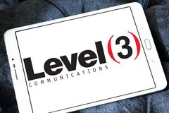 Level 3 Communications company logo. Logo of Level 3 Communications company on samsung tablet . Level 3 Communications is an American multinational Stock Images