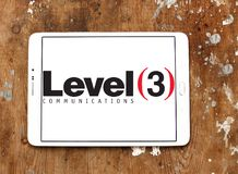 Level 3 Communications company logo. Logo of Level 3 Communications company on samsung tablet on wooden background. Level 3 Communications is an American Stock Photo
