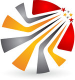 Logo élégant de feuille Photographie stock