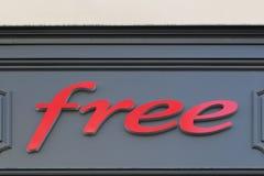 Logo libero su una parete Fotografia Stock