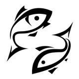 Logo-like fish symbol. Isolated icons set Stock Photography