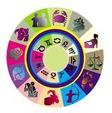 Logo-like Zodiac Star Signs ba Stock Photo