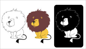 Logo of a lion's head Royalty Free Stock Photography