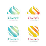 Logo - Liquid 01. Set of liquid abstract logo for your corporate identity Stock Illustration