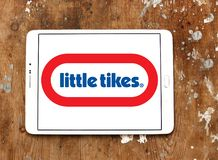 Little Tikes toy manufacturer logo. Logo of Little Tikes toy manufacturer on samsung tablet. Little Tikes is an American-based manufacturer of children`s toys stock photography