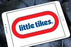 Little Tikes toy manufacturer logo. Logo of Little Tikes toy manufacturer on samsung tablet. Little Tikes is an American-based manufacturer of children`s toys royalty free stock images