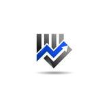 Logo livellato di vendita Fotografia Stock Libera da Diritti