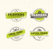 Logo local de ferme, concept local de nourriture de ferme, vecteur créatif de ferme locale, élément local de conception de ferme  Photo libre de droits