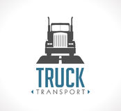 Logo - Logistic truck Royalty Free Stock Photo