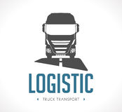 Logo - Logistic truck Royalty Free Stock Photography