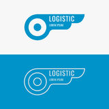 Logo for logistics company. Elements for cards, illustration, poster and web design. Vector illustration Royalty Free Stock Image