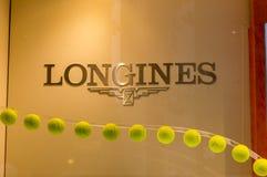Logo Longines en Milán Foto de archivo