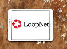 LoopNet company logo. Logo of LoopNet company on samsung tablet on wooden background. LoopNet is the most heavily trafficked commercial real estate marketplace Royalty Free Stock Photography