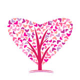 Logo. Love, a tree with heart Royalty Free Stock Photography