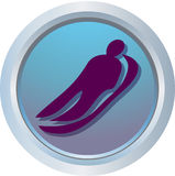 Logo of Luge. One of symbols Olympic Games royalty free illustration