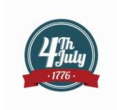 Logo 4 luglio Fotografia Stock Libera da Diritti