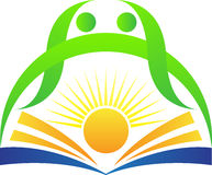 Logo lumineux d'éducation illustration stock