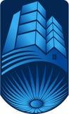 Logo lumineux de bâtiment illustration libre de droits