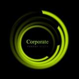 Logo luminoso astratto del cerchio di turbinio Fotografie Stock Libere da Diritti