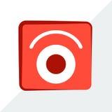 Logo luminoso, rosso, alla moda, moderno, progettazione, vettore Fotografie Stock