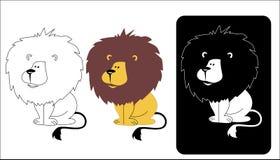 Logo lwa głowa royalty ilustracja