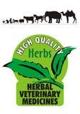 Logo - médecin vétérinaire de fines herbes Images stock