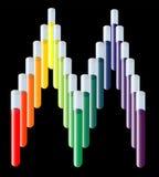 Logo médical de tube à essai Images stock