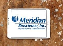 Logo méridien de société de biosciences photos stock