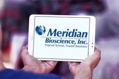 Logo méridien de société de biosciences photographie stock
