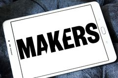 MAKERS video platform logo. Logo of MAKERS video platform on samsung tablet . MAKERS is a video platform for the trailblazing women of today and tomorrow Royalty Free Stock Photos