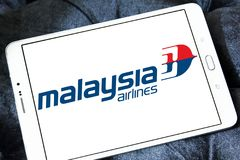 Malaysia Airlines logo. Logo of Malaysia Airlines on samsung tablet . Malaysia Airlines is the flag carrier of Malaysia and a member of the oneworld airline Stock Photography