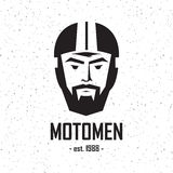 Logo man in helmet Royalty Free Stock Photography