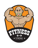Logo man strong fitness Stock Photography