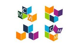 Logo Management Template Set Illustration Stock