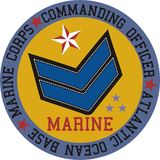 Logo marine vector stock illustration