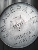 The logo of Maserati Royalty Free Stock Image