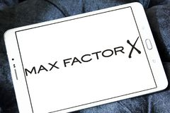 Max Factor cosmetics company logo Stock Photos