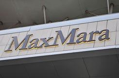 Logo Max Mara statku flagowego sklep, Moskwa Obraz Royalty Free
