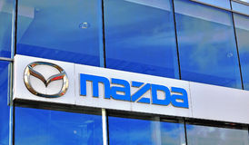 Logo of Mazda corporation Stock Photography